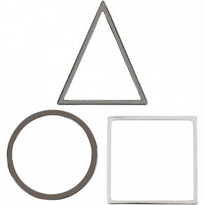 sieradenhangers 30 x 30 mm 30 stuks zilver