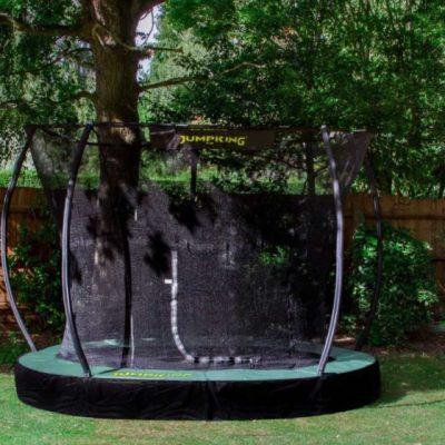 trampoline InGround Deluxe 3,66 meter zwart/groen