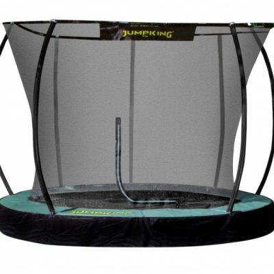 trampoline InGround Deluxe 3,05 meter zwart/groen