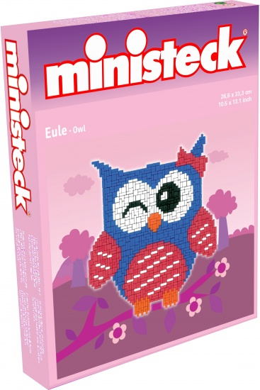 Ministeck uil paars