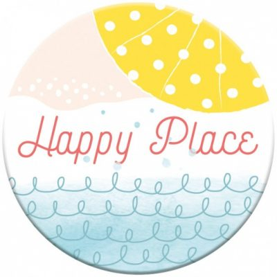 magneet Happy Place 5,5 cm rond