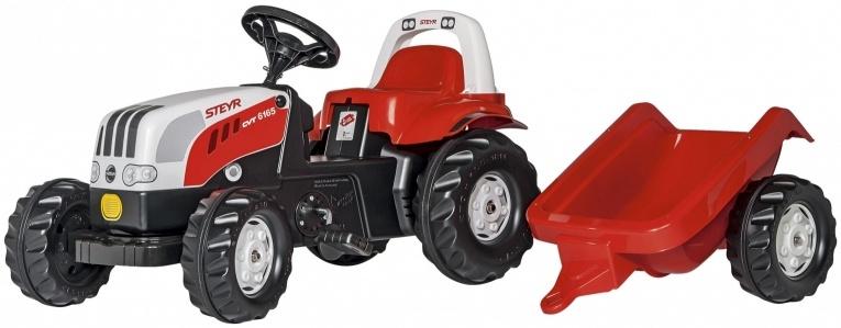 traptractor RollyKid Steyr 6165 CVT junior rood/wit